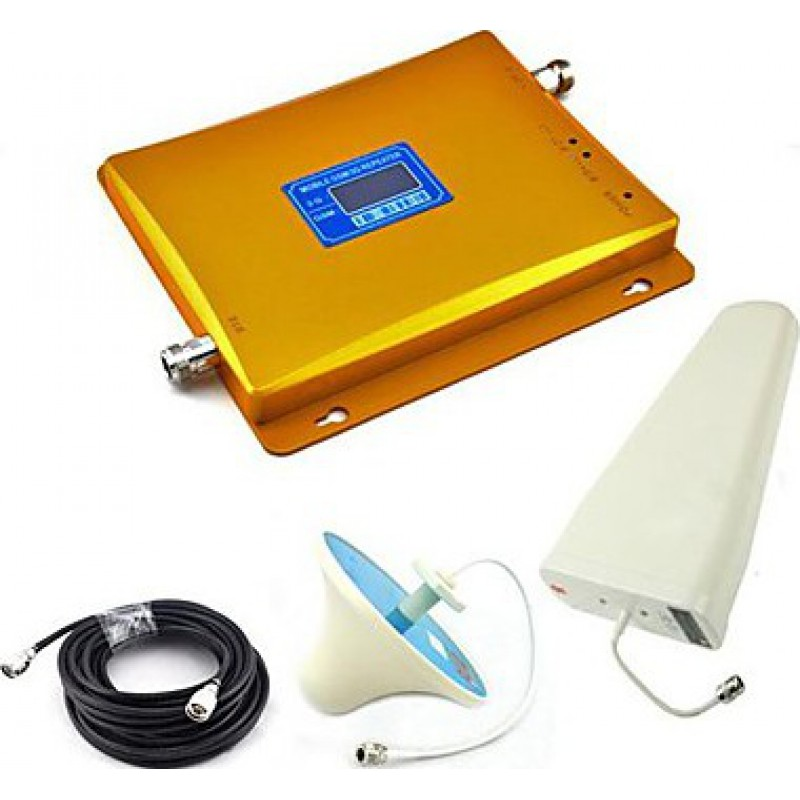 154,95 € Free Shipping | Signal Boosters Mobile phone dual band signal booster. Ceiling antenna. LCD Display GSM