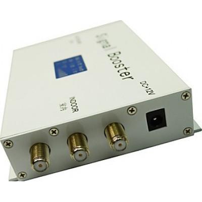 Amplificateur de signal de téléphone mobile. Kit antenne fouet et panneau. Couleur blanche. Affichage LCD