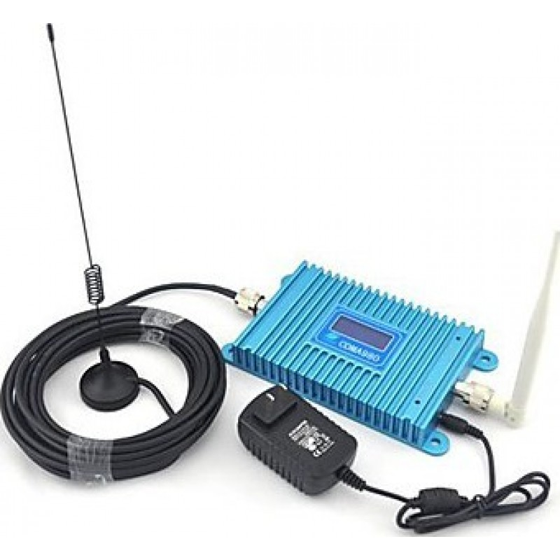 102,95 € Free Shipping | Signal Boosters Mobile phone signal booster. Indoor antenna and Sucker antenna. 10m cable. LCD Display CDMA