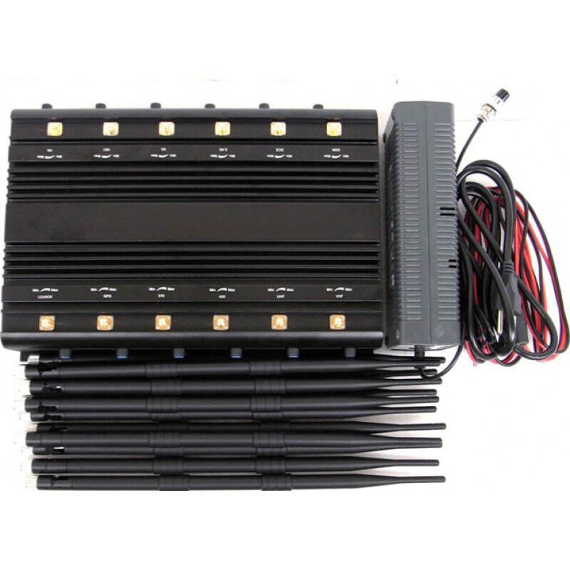 488,95 € Envío gratis | Bloqueadores de Teléfono Móvil 12 antenas. Selector de banda. Bloqueador de señal de escritorio con ventilador de enfriamiento Desktop