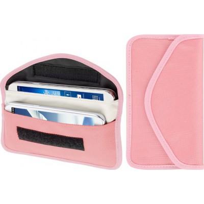 26,95 € 送料無料 | ジャマーアクセサリー 放射線対策布ポーチ。信号遮断バッグ。 6.3インチまでのスマートフォンに適しています。ピンク色