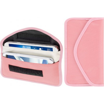 26,95 € Free Shipping | Jammer Accessories Anti-radiation cloth pouch. Signal blocking bag. Suitable for smartphones up to 6.3 Inch. Pink color