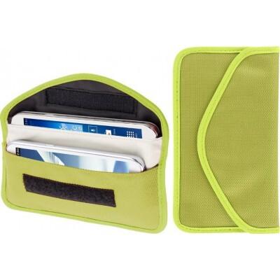 26,95 € Бесплатная доставка | Аксессуары для ингибиторов Антирадиационная тканевая сумка. Сумка для блокировки сигнала. Подходит для смартфонов до 6,3 дюйма. Зеленого цвета