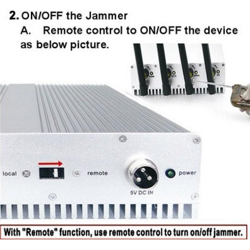 Handy-Störsender Fernbedienungssignalblocker GSM 40m