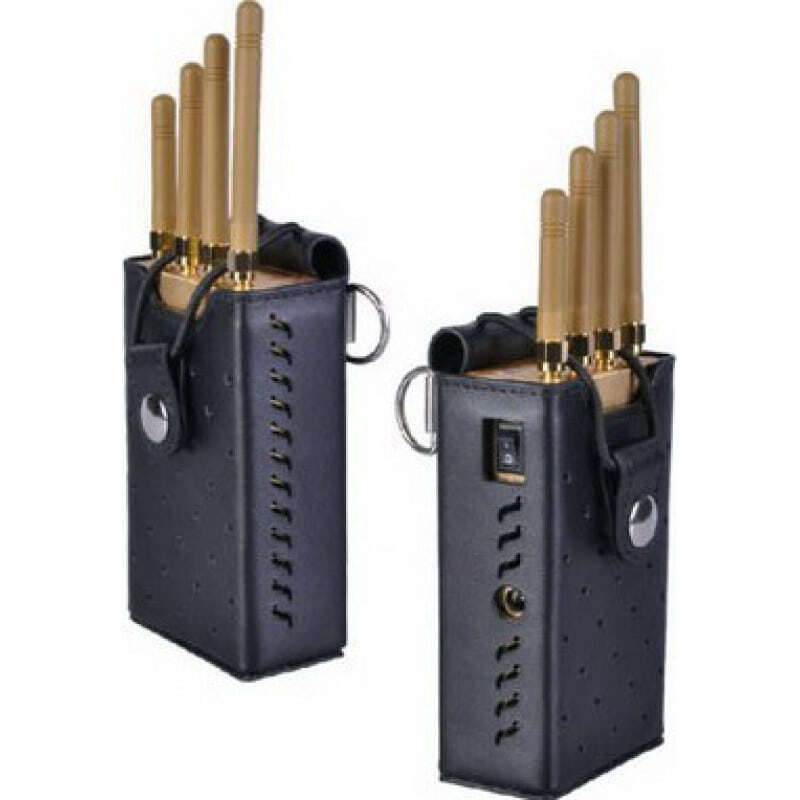 109,95 € Free Shipping | Cell Phone Jammers High power portable signal blocker. Gold color GSM Portable 15m