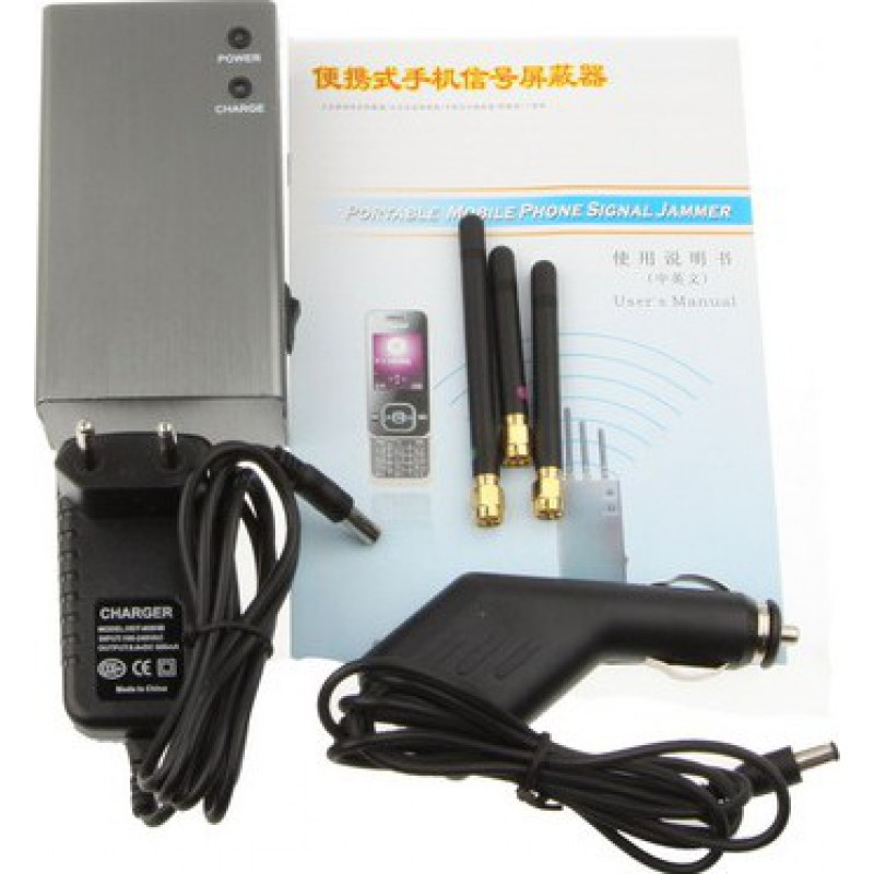 Bloqueurs de Téléphones Mobiles Bloqueur de signal portable. Couleur argent GSM Portable 20m