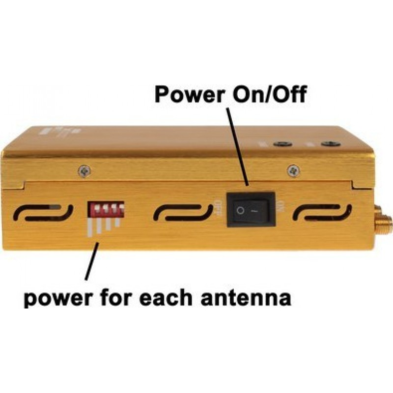 129,95 € Free Shipping | Cell Phone Jammers Portable signal blocker. Gold color GSM Portable