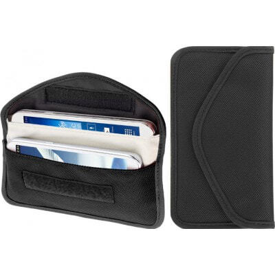 Jammer Accessories Anti-radiation cloth pouch. Signal blocking bag. Suitable for smartphones up to 6.3 Inch. Black color