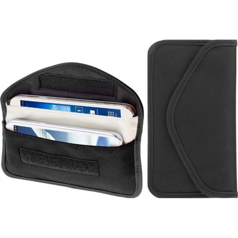 Accessoires d'Inhibiteur Pochette en tissu anti-radiations. Signal bloquant le sac. Convient aux smartphones jusqu'à 6,3 pouces. Couleur noire