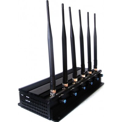 GPS干扰器 可调。 6天线。 15W大功率桌面信号拦截器 Desktop