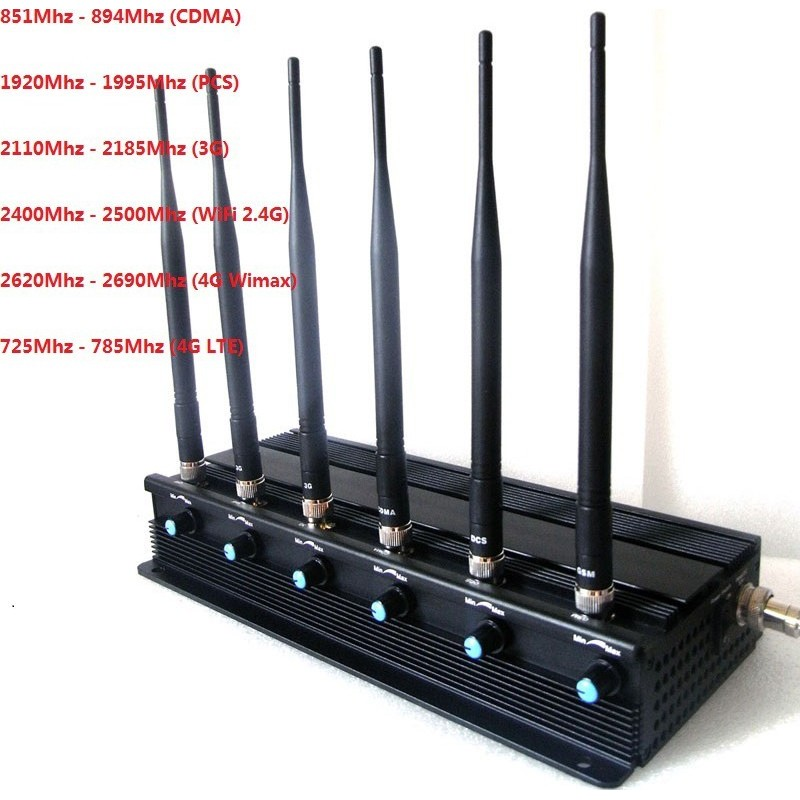 GPS-Störsender Einstellbar. 6 Antennen. 15W Hochleistungs-Desktop-Signalblocker Desktop