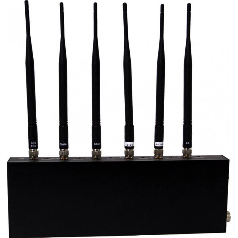 Блокаторы мобильных телефонов Мощный настольный блокировщик сигналов. 6 антенн Desktop