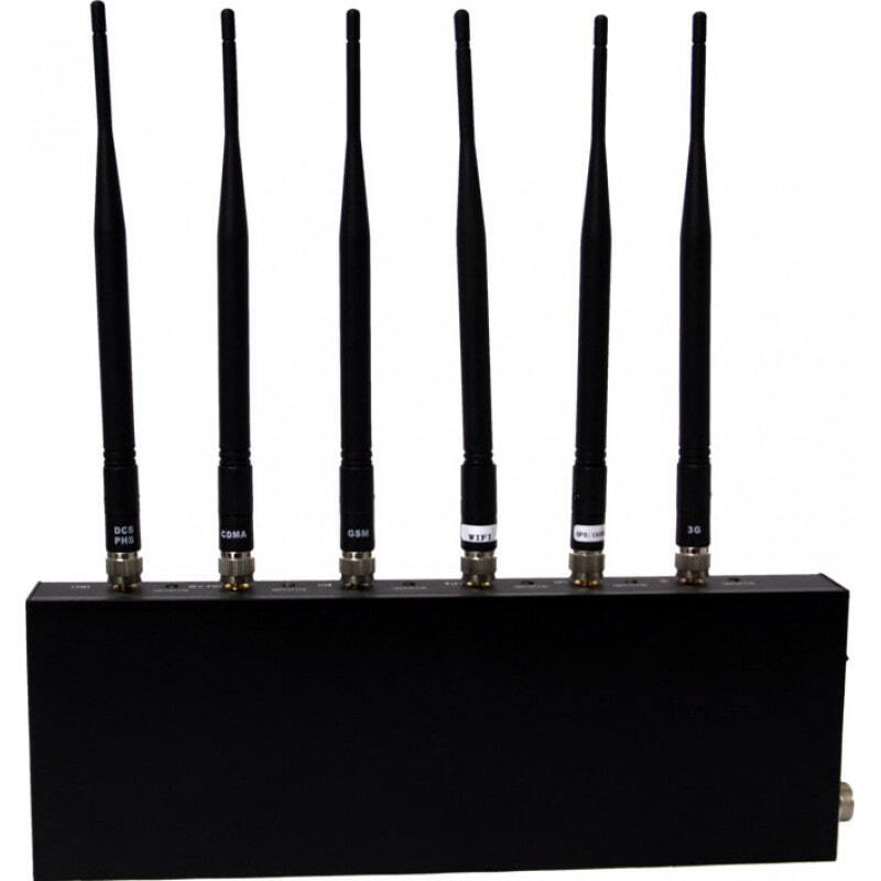 Handy-Störsender Hochleistungs-Desktop-Signalblocker. 6 Antennen Desktop