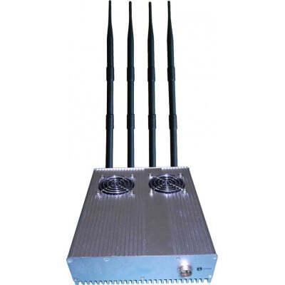 Handy-Störsender 20 W Desktop-Signalblocker für den Außenbereich. Abnehmbares Netzteil 3G Desktop