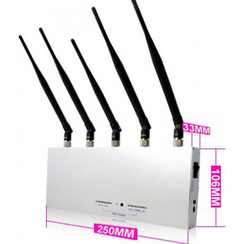 Bloqueurs de Téléphones Mobiles 5 antennes réglables. Bloqueur de signal de télécommande GSM