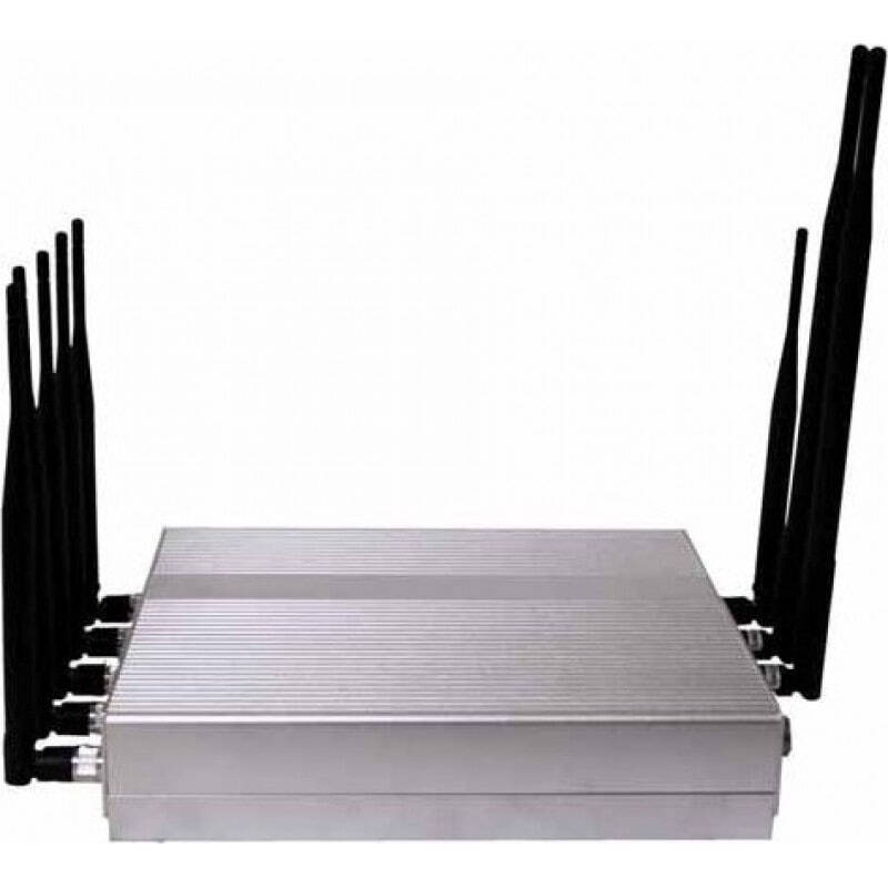 Cell Phone Jammers 16W Powerful desktop signal blocker. 8 Antennas Desktop