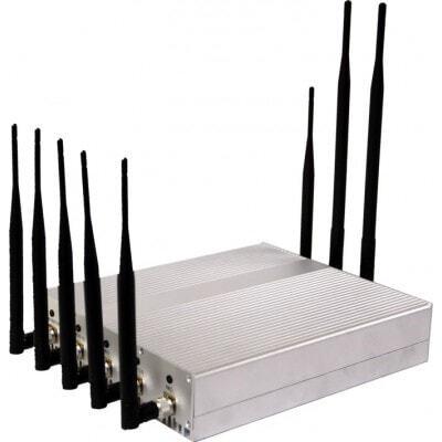 Bloqueadores de Teléfono Móvil Sensible 8 antenas. Bloqueador de señal VHF