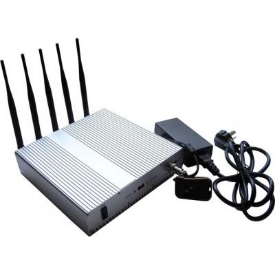 147,95 € Envío gratis | Bloqueadores de Teléfono Móvil 5 bandas Bloqueador de señal con control remoto