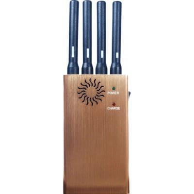 122,95 € 免费送货 | 手机干扰器 便携式信号阻断器。 4个乐队 GSM Portable