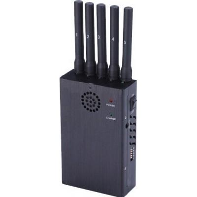 135,95 € 免费送货 | 手机干扰器 手持信号阻断器。 5频段和反跟踪 3G Handheld