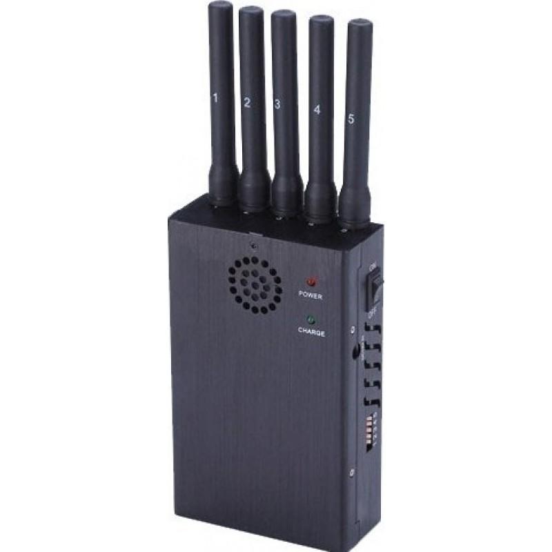 135,95 € 送料無料 | 携帯電話ジャマー ハンドヘルド信号ブロッカー。 5バンドとアンチトラッキング 3G Handheld