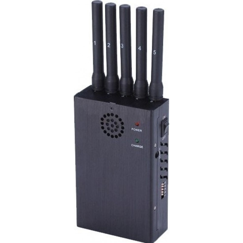 135,95 € Free Shipping   Cell Phone Jammers Handheld signal blocker. 5 Bands and anti-tracking 3G Handheld