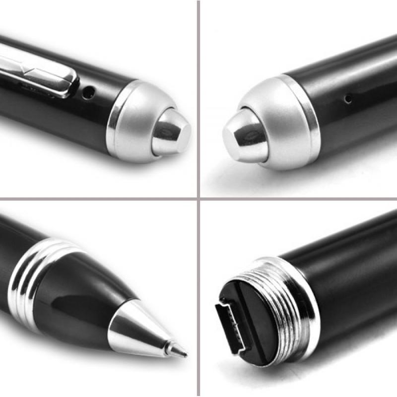 Pen Hidden Cameras High quality spy pen. Pinhole video camera. TF Card 2 Gb