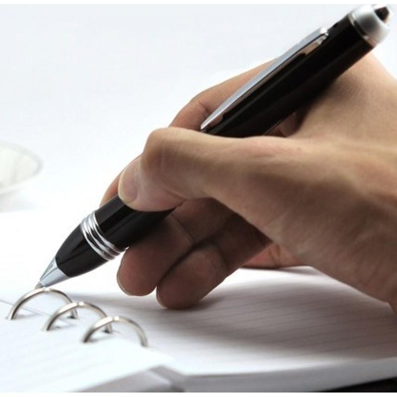 Stift mit Versteckter Kamera Hochwertiger Spionage-Stift. Lochkamera. TF-Karte 2 Gb