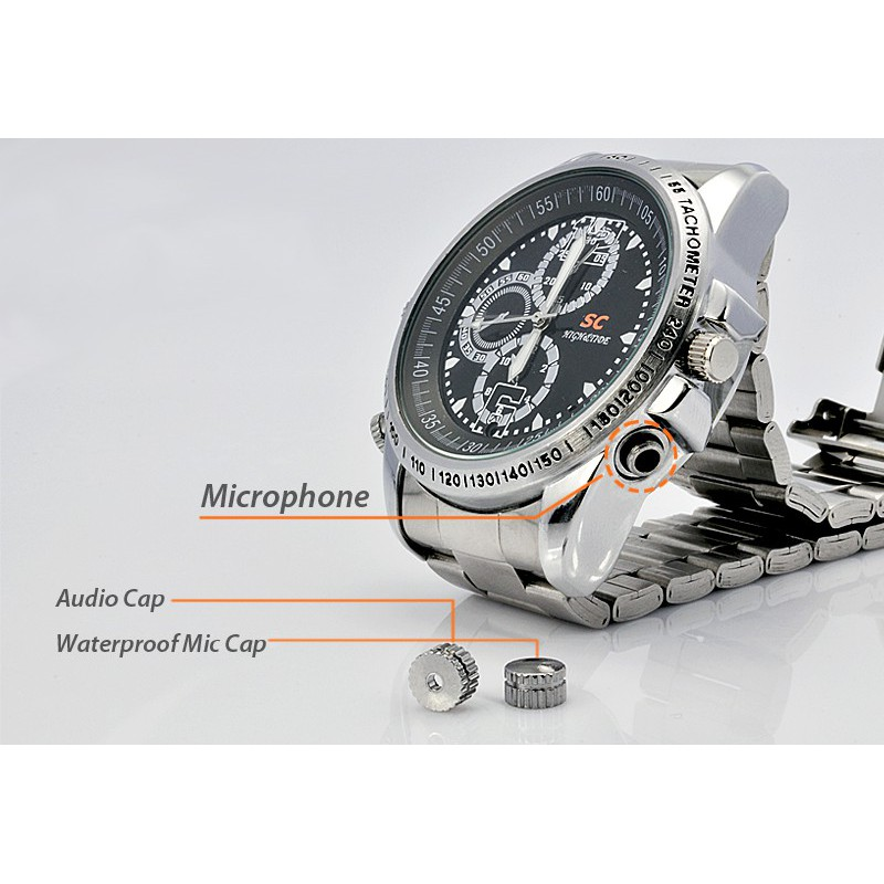 39,95 € 免费送货   观看隐藏的相机 间谍相机手表。防水。高清晰度 8 Gb 480P HD