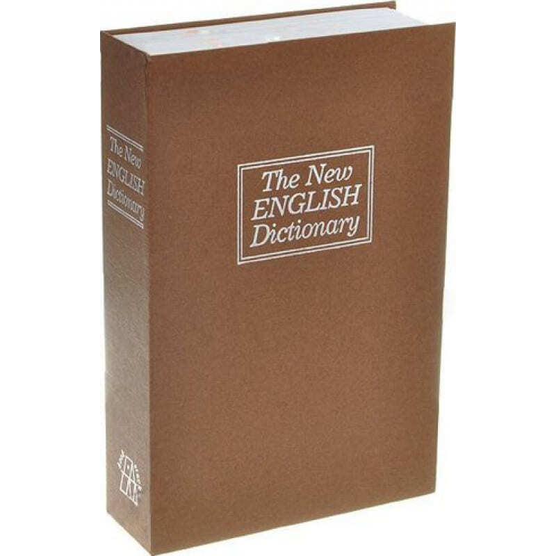 Hidden Spy Gadgets Security cash lock box. Large size english dictionary book. Locker and key
