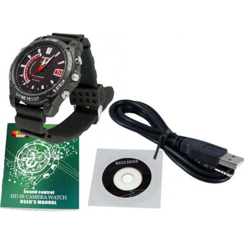 59,95 € Free Shipping | Watch Hidden Cameras Spy camera watch. Waterproof. Night vision camera. Digital video recorder (DVR)