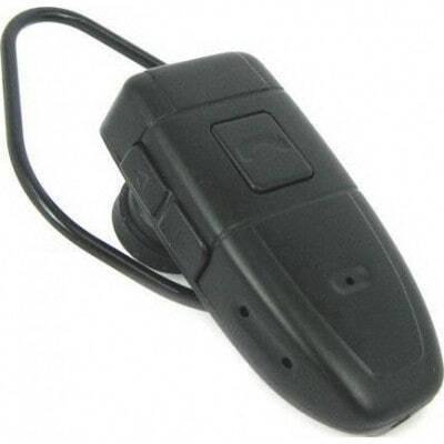 47,95 € Envio grátis | Outras Câmeras Espiã Fone de ouvido bluetooth espião. Fone de ouvido com câmera escondida. Gravador de vídeo digital (DVR). Gadget de vigilância 8 Gb