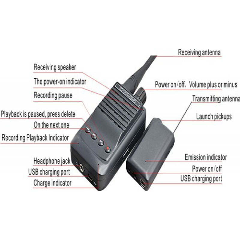 107,95 € Free Shipping | Signal Detectors Micro wireless audio spy recorder. Voice transmitter and receiver. TF Card slot. 500 meter range