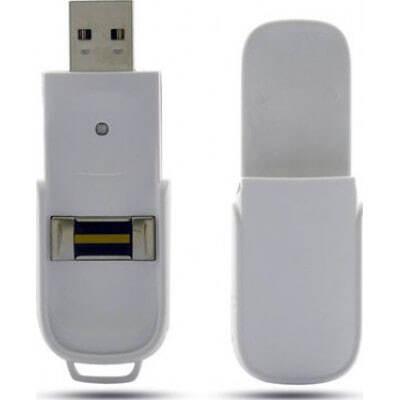 隠れたスパイガジェット バイオメトリックUSBフラッシュドライブ。 Uキー。最大10個の指紋を保存 8 Gb