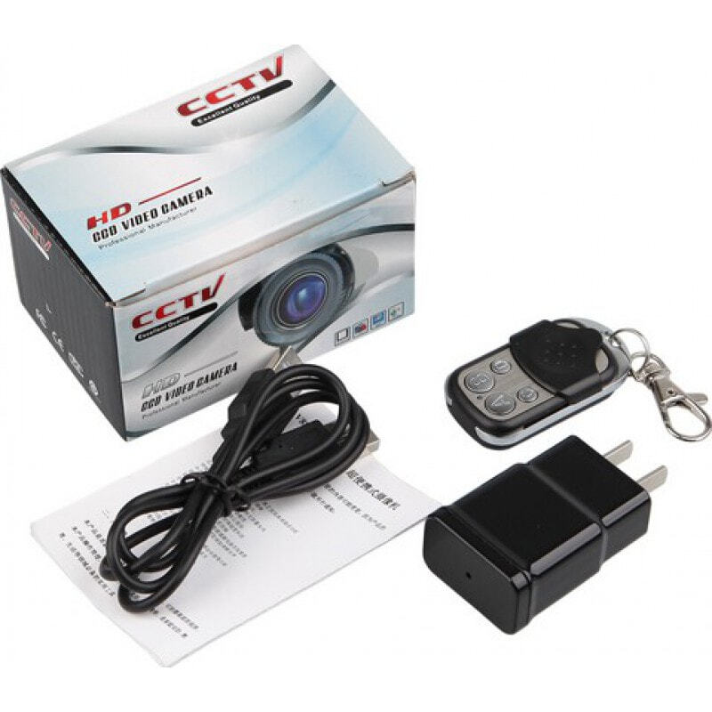 59,95 € Envío gratis | Otras Cámaras Ocultas Mini cámara oculta. Adaptador de CA cargador cámara espía. Videocámara estenopeica. Detección de movimiento. Control remoto 1080P Full HD