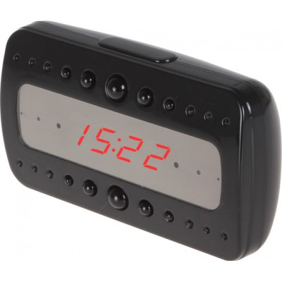 63,95 € Envio grátis | Relógios Espiã Despertador de espião. Visão noturna infravermelha por infravermelho. Câmera escondida. Gravador de vídeo digital (DVR). Detecto 1080P Full HD