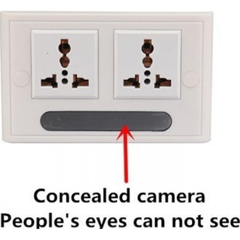 Autres Caméras Espion Caméra espion prise murale réelle. H264 / WiFi / APP. Télécommande. Moniteur de surveillance en direct. Caméra cachée 1080P Full HD