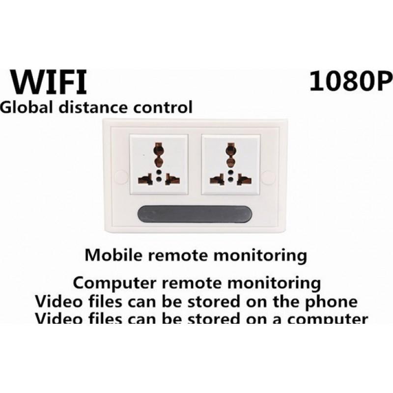 Andere versteckte Kameras Echte Steckdose Spionage-Kamera. H264 / WiFi / APP. Fernbedienung. Live-Überwachungsmonitor. Versteckte Kamera 1080P Full HD