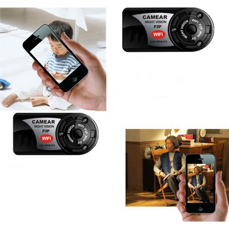 37,95 € Бесплатная доставка   Другие скрытые камеры Мини шпионская камера. Цифровой видеорегистратор (DVR). Скрытая видеокамера. ИК ночного видения. Спорт ДВ. Беспроводной Интернет 480P HD