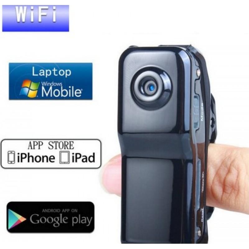 41,95 € Бесплатная доставка | Другие скрытые камеры Мини шпионская камера. Клип на стиль. Звук активирован. Беспроводная / WiFi видеокамера