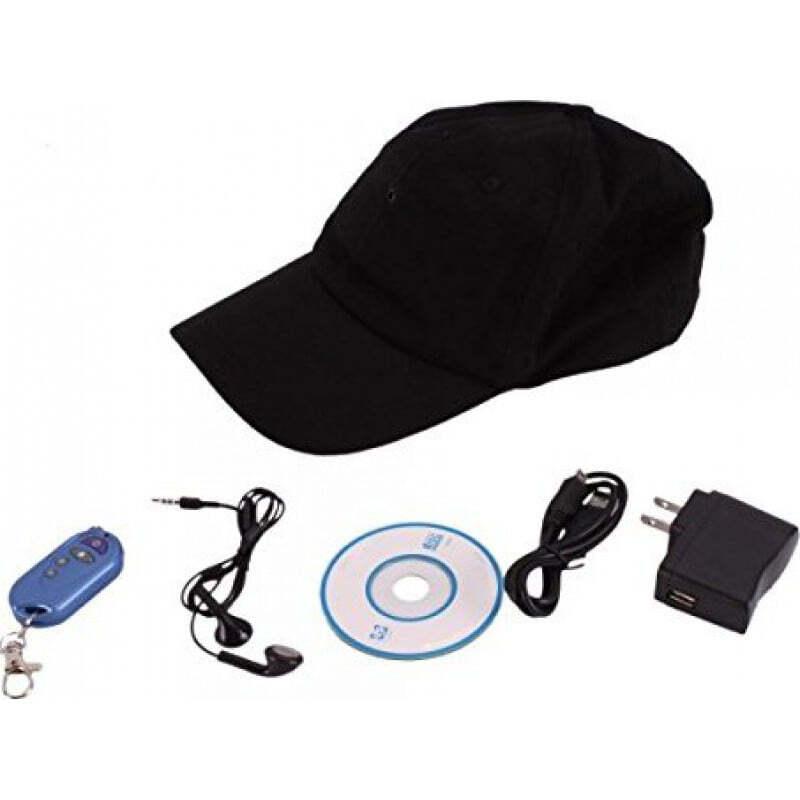 64,95 € Free Shipping | Other Hidden Cameras Spy hat camera Version 3 in 1. Hidden camera. MP3 Bluetooth 1080P Full HD