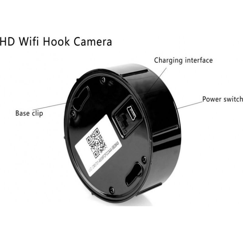 66,95 € Free Shipping | Other Hidden Cameras Spy hook hidden camera. Remote monitoring. Android/IOS App. Motion detection 1080P Full HD