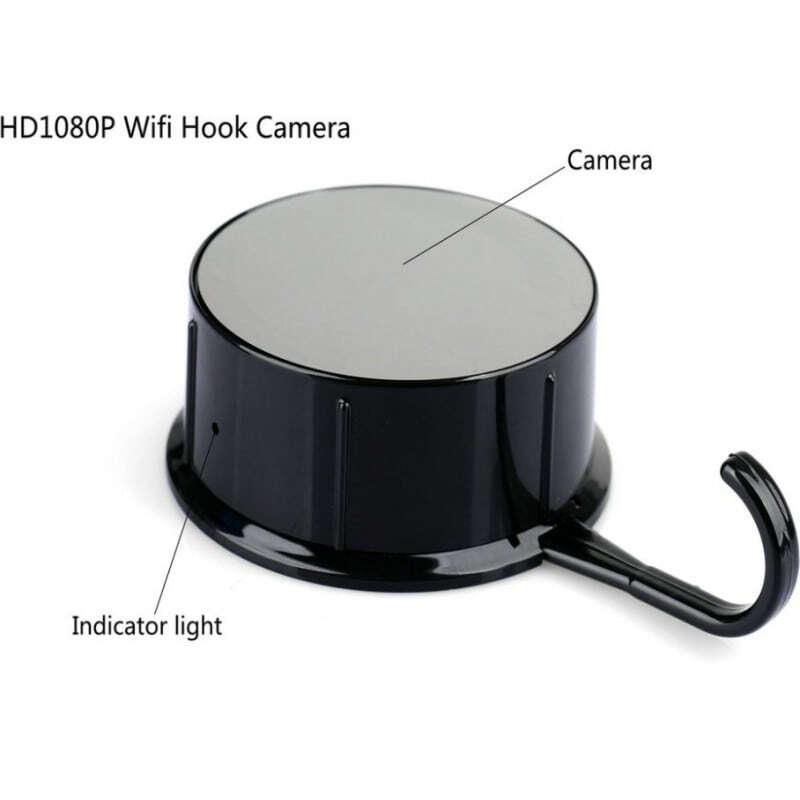 66,95 € Envoi gratuit | Autres Caméras Espion Spy hook camera cachée. Surveillance à distance. App Android / IOS. Détection de mouvement 1080P Full HD