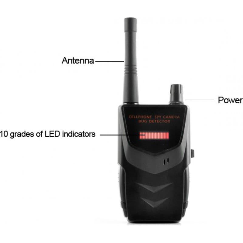 信号探测器 便携式无线防间谍探测器。隐藏的相机探测器。间谍音频探测器