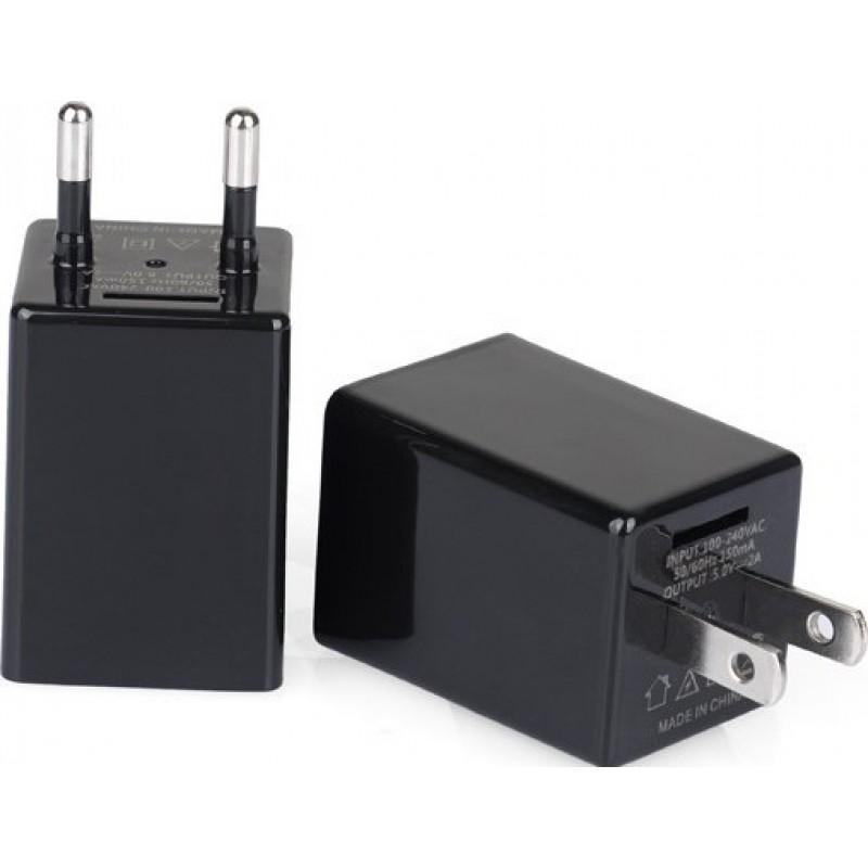 49,95 € Бесплатная доставка | Другие скрытые камеры Шпионская камера в форме зарядного устройства. США / ЕС Plug. Вай-фай. Скрытая камера 1080P Full HD