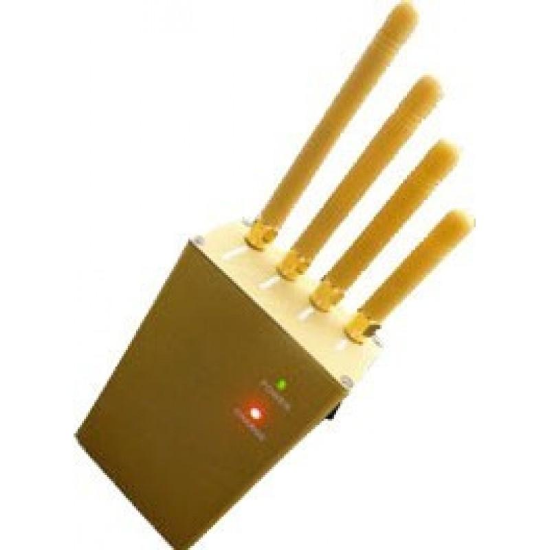 61,95 € Kostenloser Versand   Handy-Störsender 3W Handheld-Signalblocker. Ausgangsleistung. 4 Antennen GPS Handheld