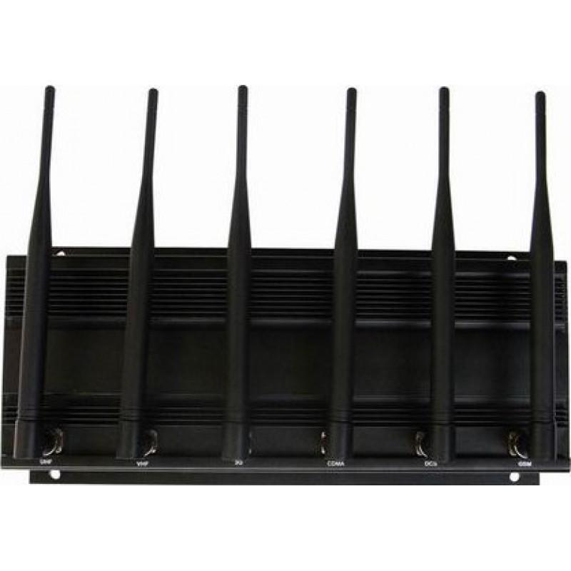 114,95 € Envoi gratuit | Bloqueurs de Téléphones Mobiles Bloqueur de signal haute puissance. 6 antennes GPS VHF