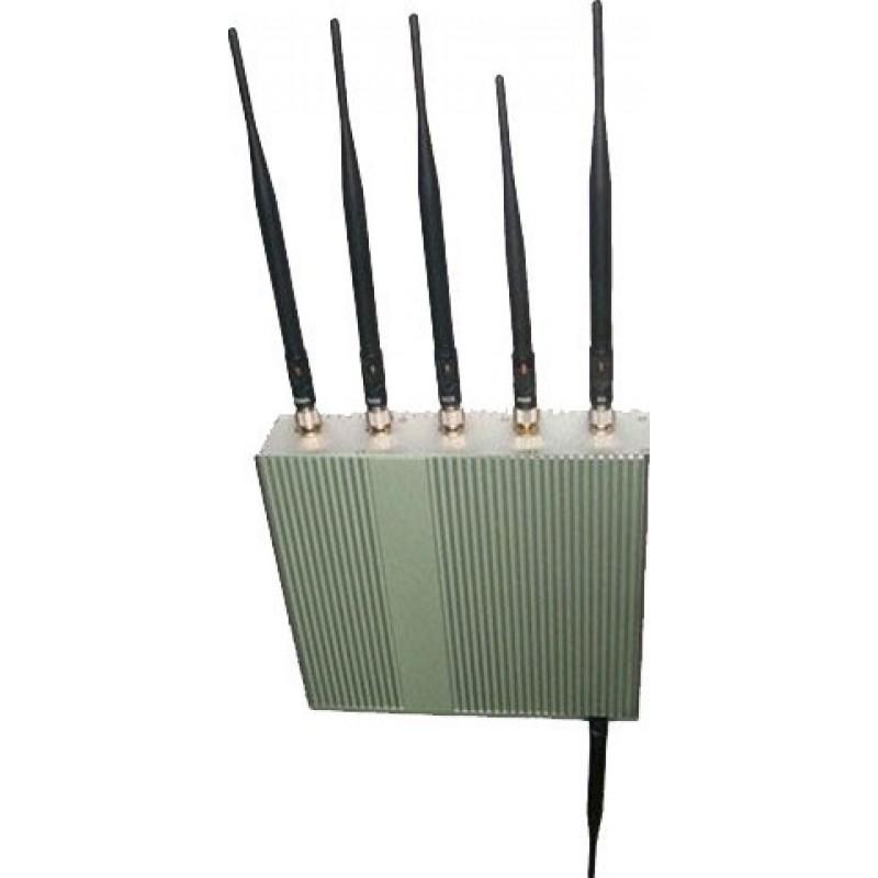 127,95 € Бесплатная доставка | Блокаторы мобильных телефонов 6 антенн. Блокатор сигналов с дистанционным управлением GPS
