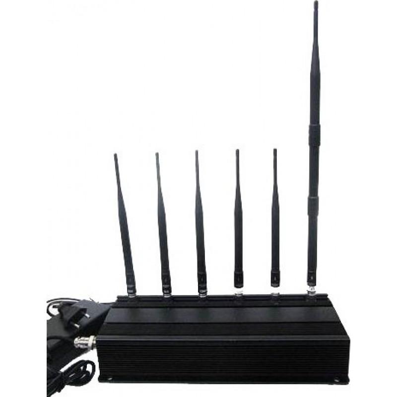 114,95 € Envoi gratuit | Bloqueurs de Téléphones Mobiles 6 antennes bloqueur de signal Cell phone GSM
