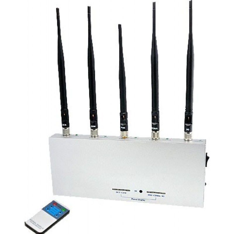 56,95 € Envío gratis   Bloqueadores de Teléfono Móvil 5 antenas. Bloqueador de señal con control remoto Cell phone GSM